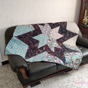 Acropatch-Un petit air marin-Double-Etoile-Motif-Quilting-Ecorce