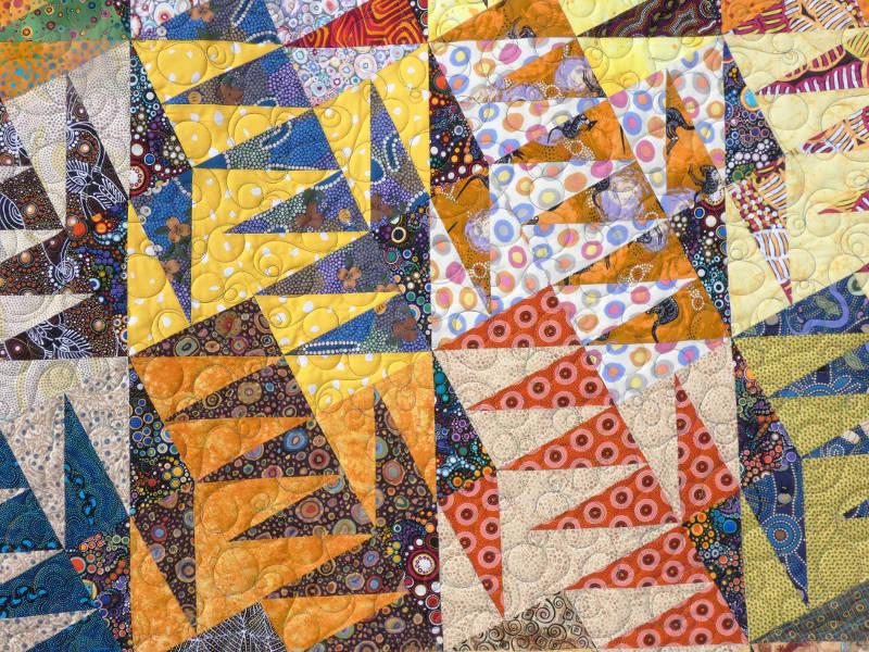 Acropatch-motif-quilting-BULLE-panneau-mural-fil-multicolore