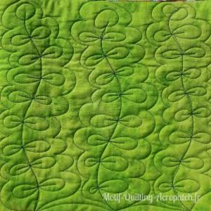 Acropatch-motif-quilting-PLANTE AQUATIQUE