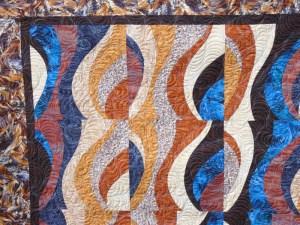 Acropatch-motif-quilting-TEMPETE-tableau-textile-fil-dégradé-bleu