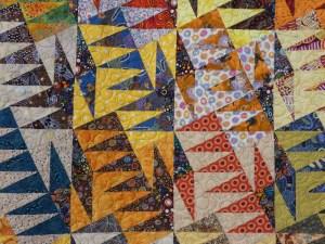 Panneau-mural-Aussie dream-Motif-Quilting-BULLE-fil-multicolore-détails des blocs et du matelassage