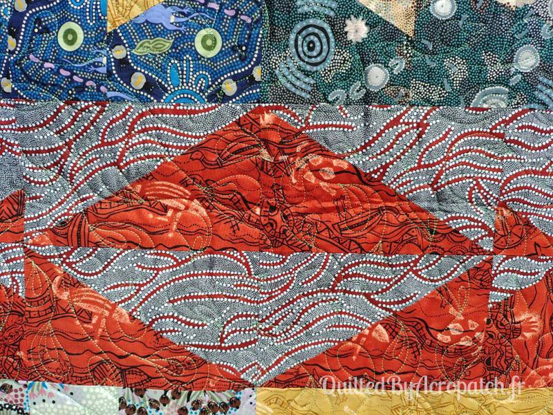 Panneau-mural-Oz-Motif-Quilting-Plumétis-Fil-uni-vert d'eau-154x116cm-Détails du bloc et du quilting