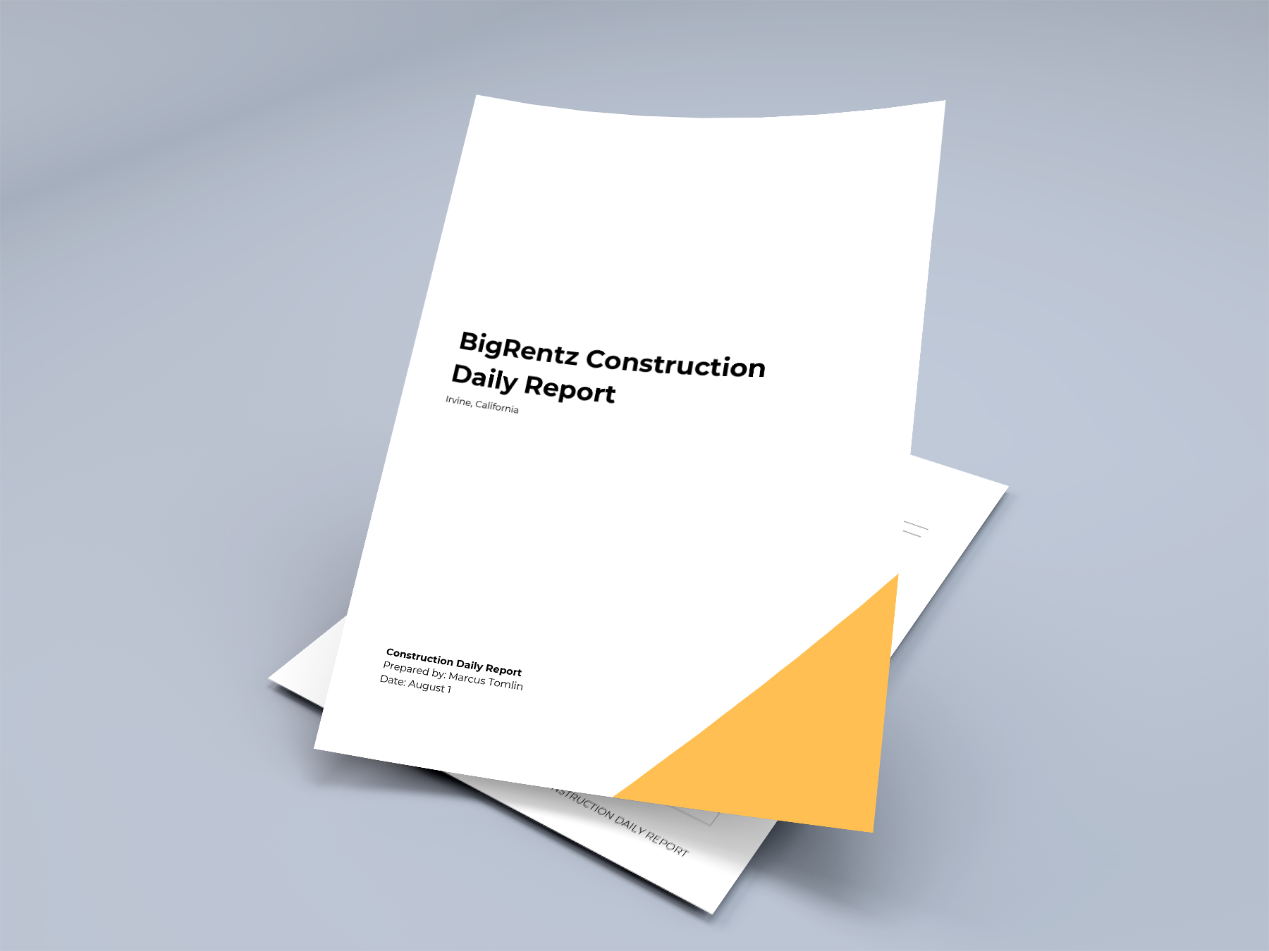 This file is high quality and printable. How To Write A Construction Daily Report Free Template Bigrentz