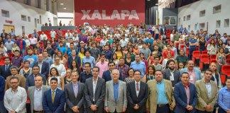 Este martes, el alcalde, Hipólito Rodríguez Herrero inauguró el primer Foro regional 'Negocios Internacionales e Innovación Xalapa 2019', en el auditorio de la Iniciativa Municipal de Arte y Cultura (IMAC).
