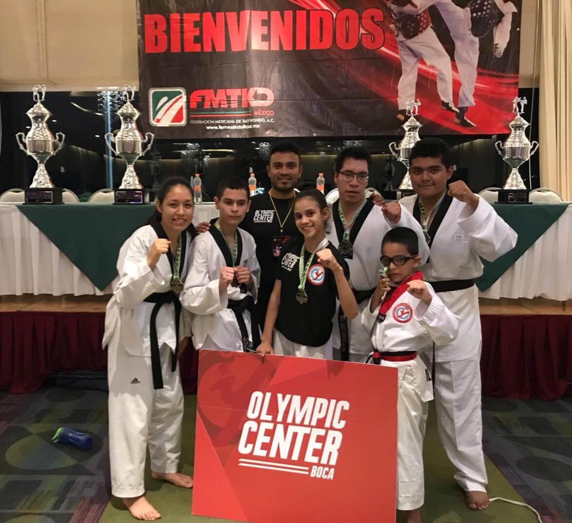 Con una cosecha de cuatro oros, dos platas y un bronce; la organización Olympic Center Boca registró una brillante participación en la Novena Edición del Abierto de Taekwondo en Acapulco.