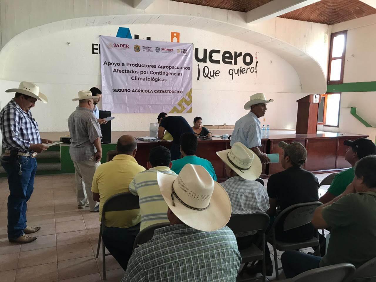 La Secretaría de Desarrollo Agropecuario, Rural y Pesca (SEDARPA) entregó un millón 050 mil pesos del Seguro Agrícola Catastrófico a 158 productores de Alto Lucero, que sufrieron afectaciones por la sequía.