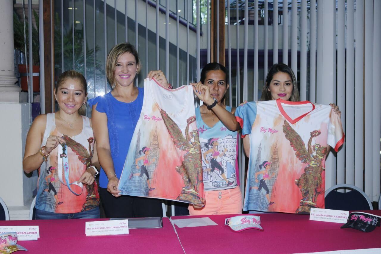 La Secretaría de Turismo y Cultura (SECTUR) presentó la carrera 'Porque soy mujer 5K', se llevará a cabo el próximo 02 de junio a las 08:00 horas, en la avenida Rafael Murillo Vidal de Xalapa.