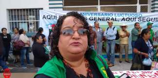 Campesinos se manifestaron afuera de las instalaciones de la Secretaría de Desarrollo Agropecuario, Rural y Pesca, para exigir Información sobre a quiénes se les entregaron los recursos de los paquetes tecnológicos de 2018.