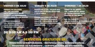A partir de este viernes y hasta el domingo, las Brigadas Itinerantes del Registro Civil, implementadas por la Secretaría de Gobierno (SEGOB), brindarán atención totalmente gratuita a ciudadanos nacidos en la entidad y que vivan en la zona conurbada Veracruz-Boca del Río.