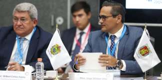 El Fiscal General del Estado de Veracruz, Jorge Winckler Ortiz participa en la 1a. Asamblea Plenaria Extraordinaria de la Conferencia Nacional de Procuración de Justicia que ser realiza en esta ciudad capital y que es encabezada por el Fiscal General de la República, Alejandro Gertz Manero.