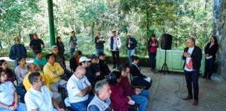 El presidente municipal Hipólito Rodríguez Herrero y el gobernador Cuitláhuac García Jiménez realizaron un recorrido por este espacio, que forma parte del Área Natural Protegida El tejar-Garnica.