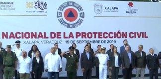 Este jueves, se llevó a cabo una solemne ceremonia en memoria de las víctimas de los sismos de 1985 y 2017.