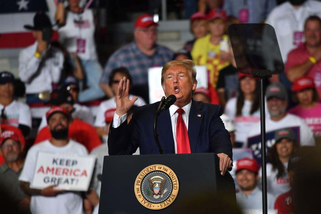 El presidente de Estados Unidos, Donald Trump, avanzó en su campaña para la reelección en el estado de Nuevo México, donde ningún candidato republicano ha ganado desde 2004.