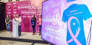 Este miércoles, el presidente municipal de Veracruz, Fernando Yunes Márquez anunció la carrera contra el cáncer de mama ʽCuidarte es quererte', a realizarse el próximo domingo 27 de octubre de 2019.