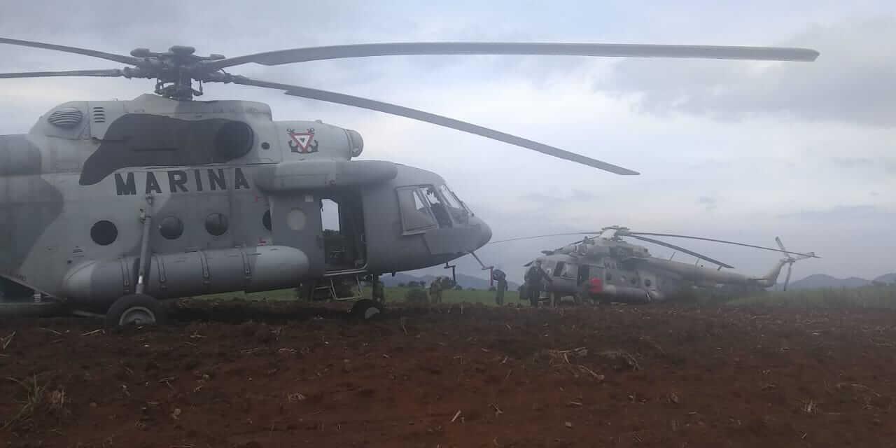 La Secretaría de Marina (Semar) informó que un helicóptero MI-17 perteneciente a la Armada de México, efectuó un aterrizaje precautorio a 40 millas náuticas aproximadamente (74 kilómetros) al Suroeste de Veracruz.