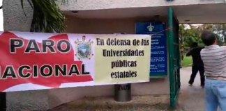 Este miércoles, la Universidad Veracruzana suspendió clases,por unirse a las universidades públicas en paro nacional, con el objetivo de lograr el financiamiento con más recursos porque muchas casas de educación superior están en la quiebra total y absoluta.