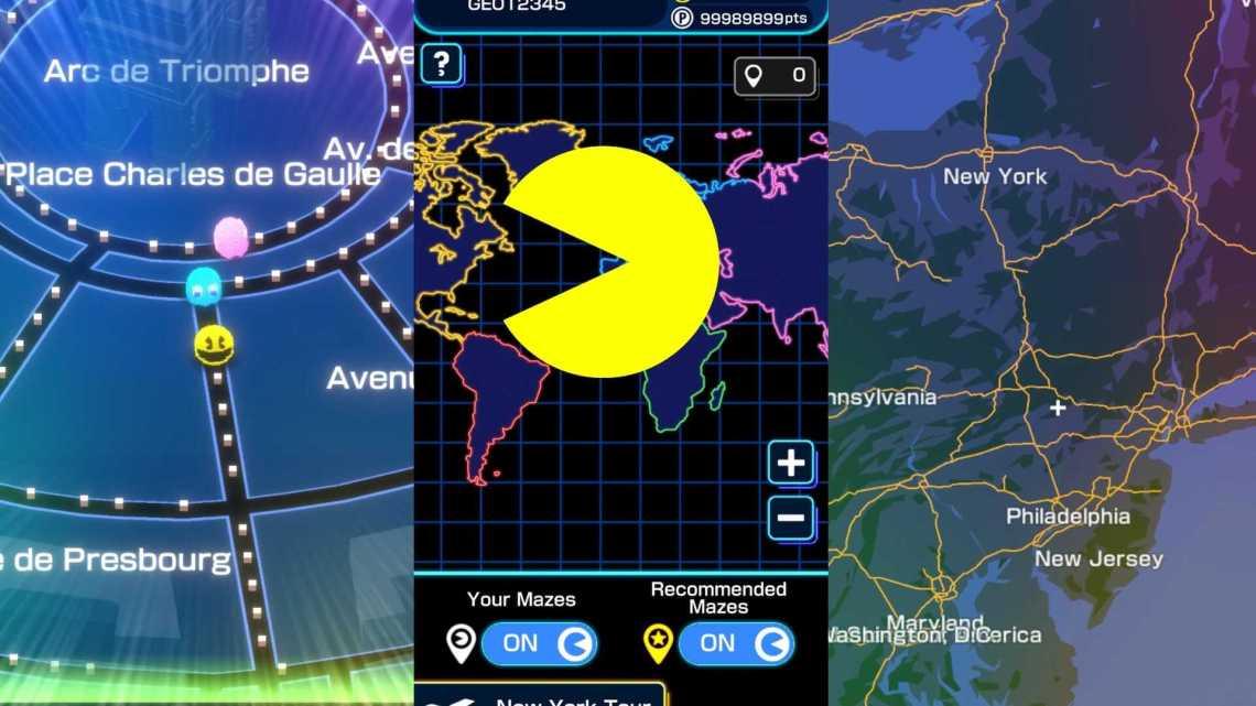 Pac-Man Geo, el innovador juego donde Pac-Man está en tu ciudad.