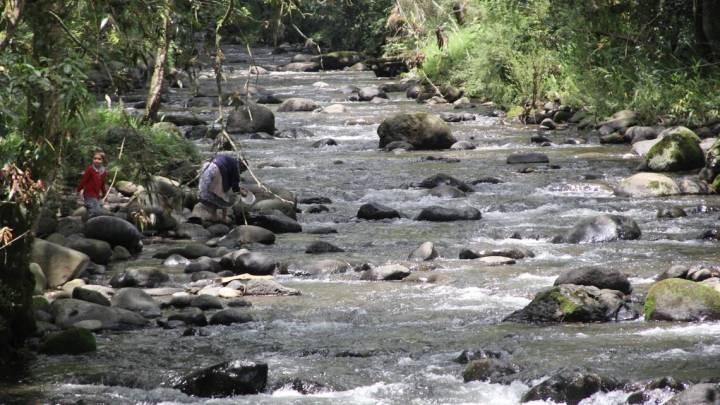 Baja el nivel del río Pixquiac