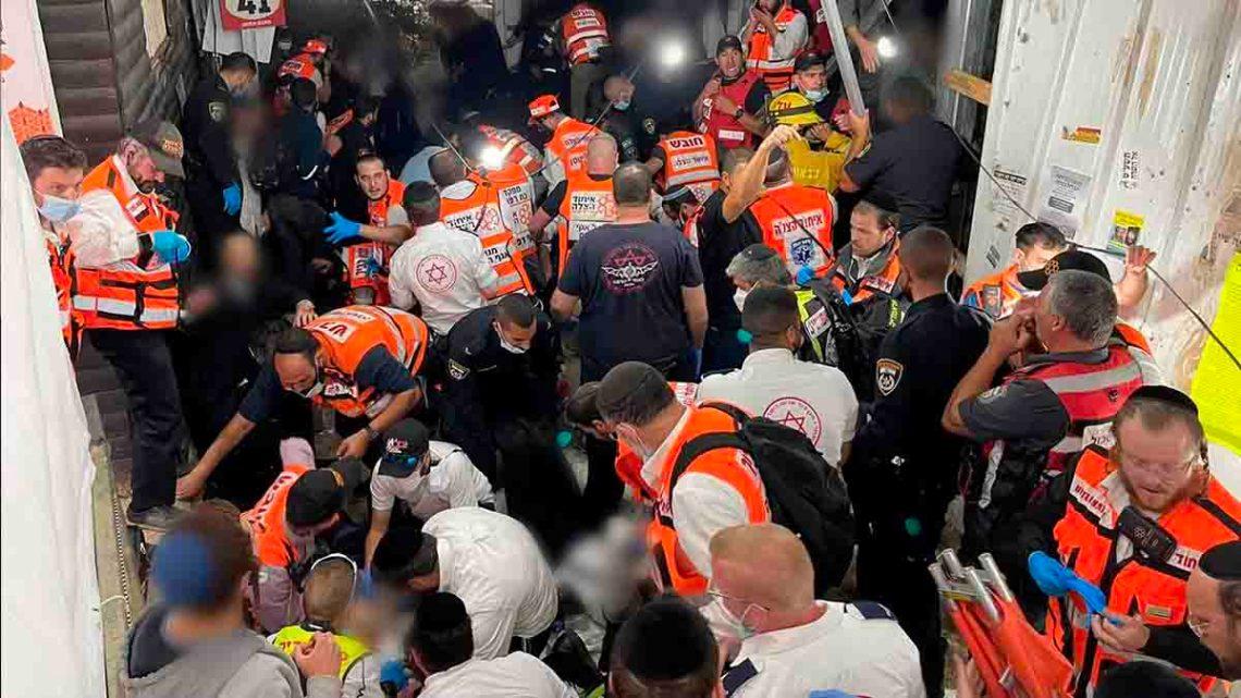 Estampida en Israel durante evento religioso deja al menos 45 muertos