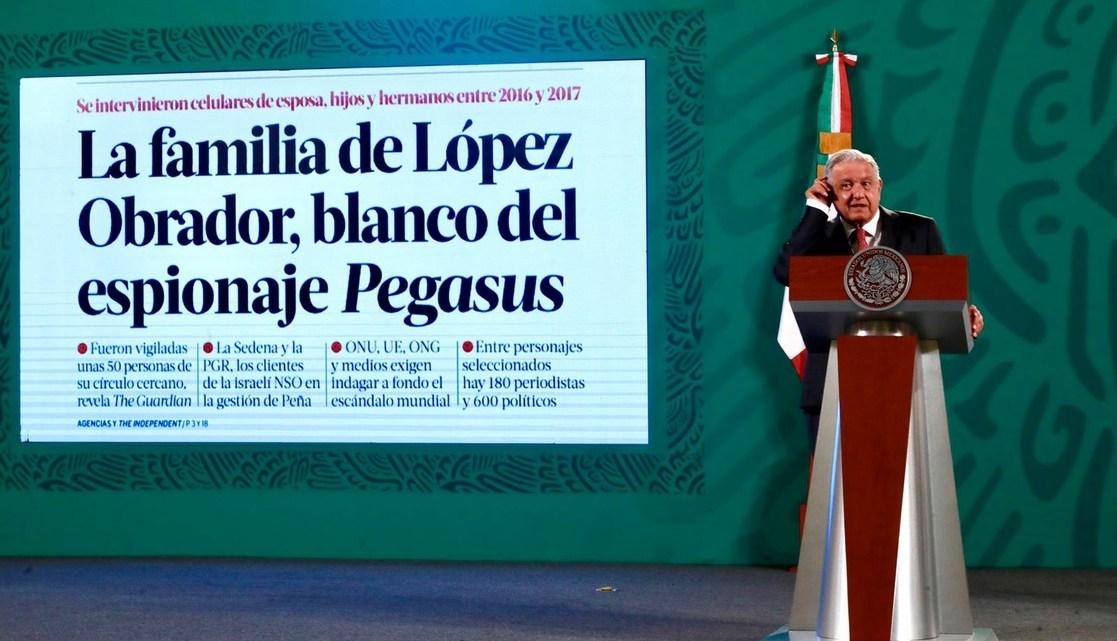 """""""Nosotros no espiamos a nadie"""", ratifica López Obrador"""