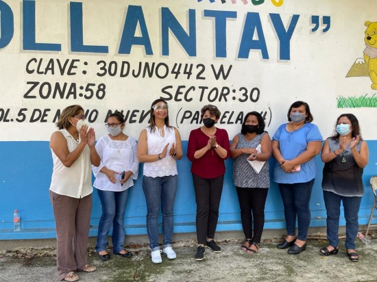 "Se destinarán recursos para rescatar escuelas afectadas por ""Grace"": Delfina Gómez."