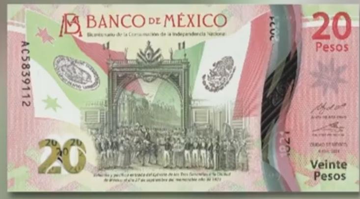 Presentó Banxico nuevo billete de 20 pesos