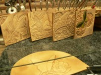 Tooled leather wall art | Across Leather