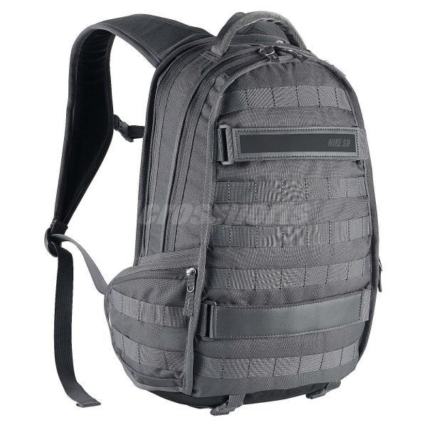 Nike Sb Rpm Grey Black Buckle Strap Skateboarding Backpack