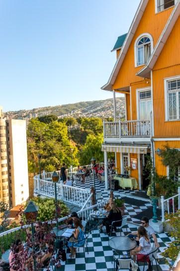 The balcony of the Hotel Brighton