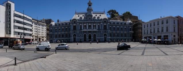 The main plaza in Valparaiso