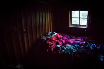 My favourite photo. Our room in the refugio.
