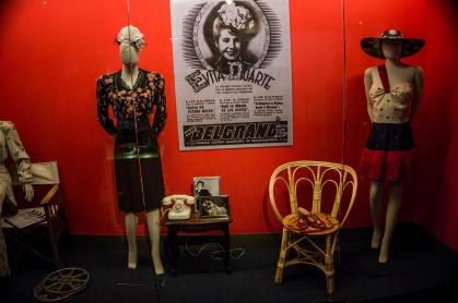 Her clothing on display