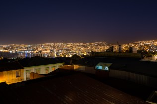View from our hostel room in Valparaiso