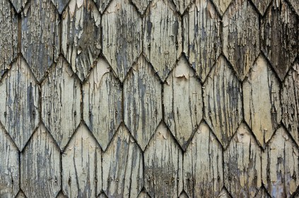 Typical shingles line the old houses in Puerto Varas.