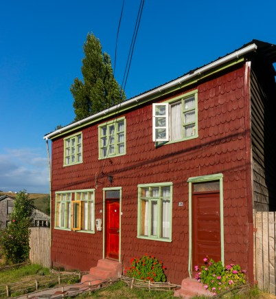 A typical Chiloe shingled house.