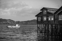 Castro fishing harbour.