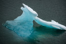 Our first sighting of an iceberg.