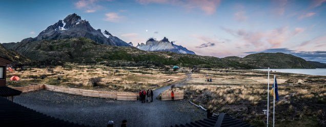 From the window of the bar at Paine Grande campsite