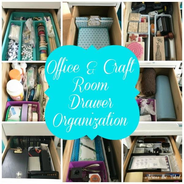 Office And Craft Room Desk Drawer Organization Tips Across The Blvd