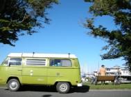 lime vw bus