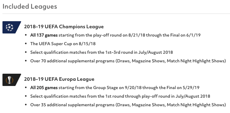 UEFA Champions League and UEFA Europa League on Bleacher Report Live