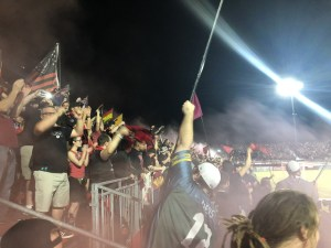 Phil Kennedy supporting one of his favorite football clubs, Phoenix Rising