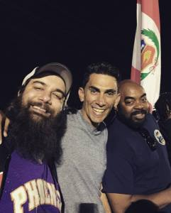 Phil Kennedy, Rick, and Ramon at Phoenix Rising game