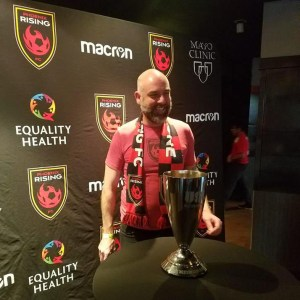 Arran Airs with USL Western Conference Cup