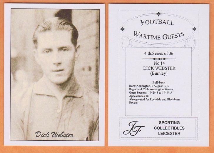 Dick Webster, Accrington Stanley, wartime great