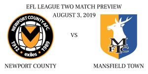 Newport County vs Mansfield Town