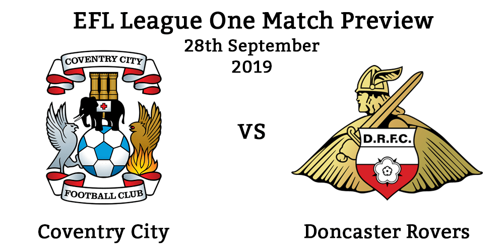 Coventry City vs Doncaster Rovers Header 28th September 2019