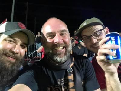 Phil, Arran, Tim at Casino Arizona Field