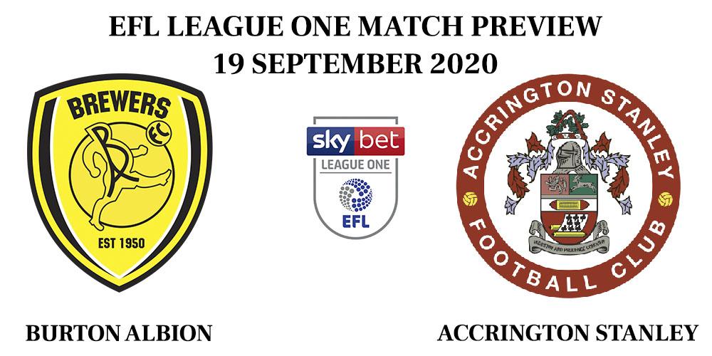 Burton Albion vs Accrington Stanley 2020