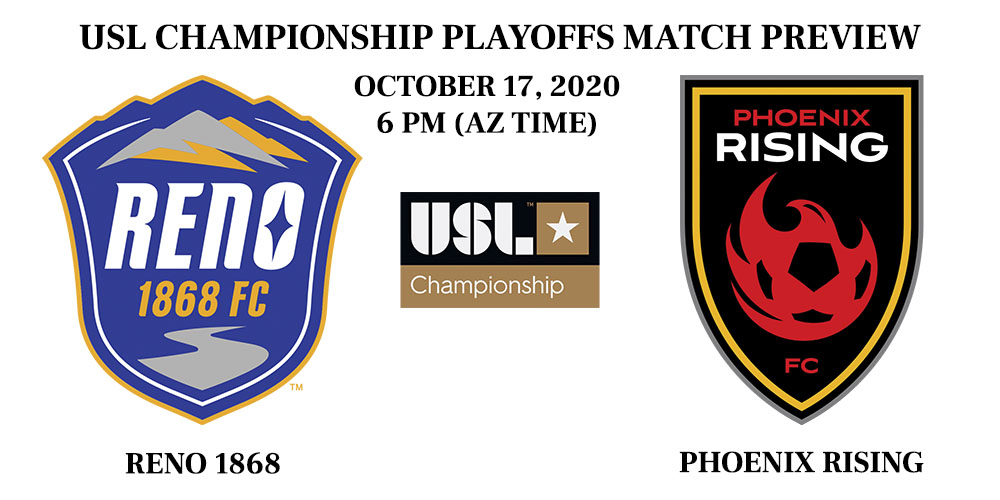 Reno 1868 vs Phoenix Rising playoffs